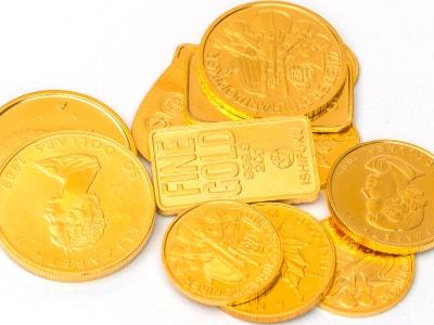 古い金貨のコレクション