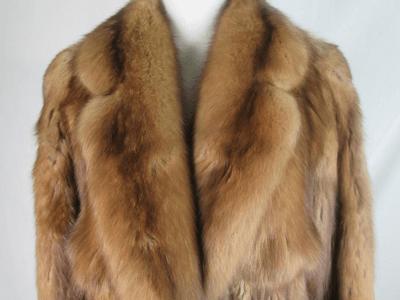 ロシアンセーブルの毛皮コート