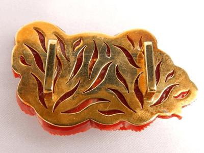 赤珊瑚 帯留め(K18)