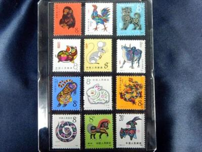 中国切手のコレクション
