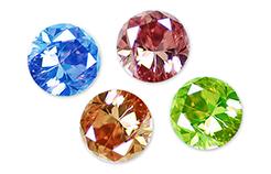 色濃いダイヤモンドは価値が高い図