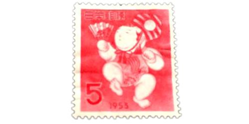 年賀切手三番鼠人形