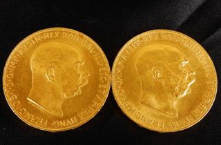 オーストリア100コロナ金貨