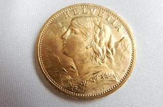 20フラン金貨ヘルベティアアルプスの少女