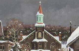 西洋画 樋口洋 雪の小樽