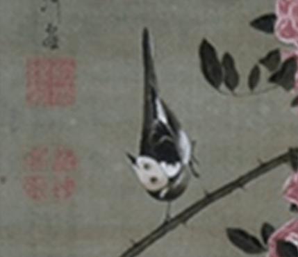 薔薇小禽図