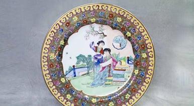 中国骨董 絵皿