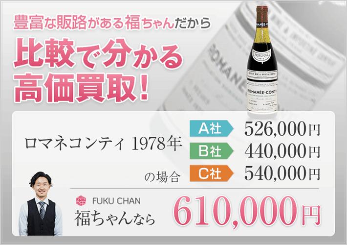 ワインの買取価格比較